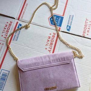 Steve Madden lavender envelope clutch or cross NEW
